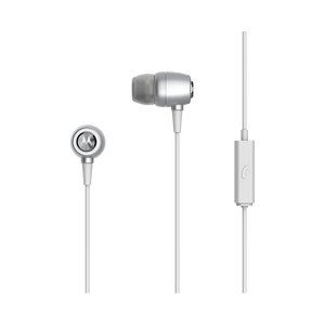 metal earbuds argento