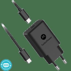 Caricabatterie da parete Motorola TurboPower ™ 27 con cavo dati da USB-C a USB-C