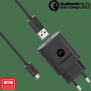 Caricabatterie da parete Motorola TurboPower ™ 18 con cavo dati micro USB