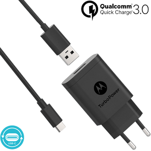Caricabatterie da parete Motorola TurboPower ™ 18 con cavo dati USB-C