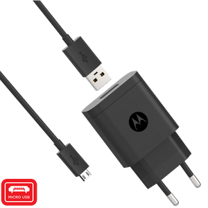 Caricabatterie rapido da parete Motorola 10W con cavo dati micro USB