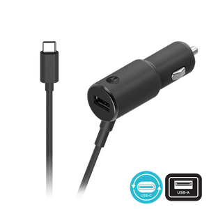 Caricabatterie per auto Motorola TurboPower ™ 36W a doppia connessione